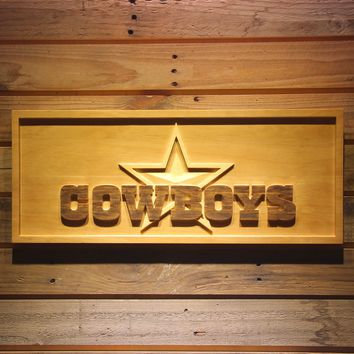 Dallas Cowboys Star 3D Wooden Bar Sign