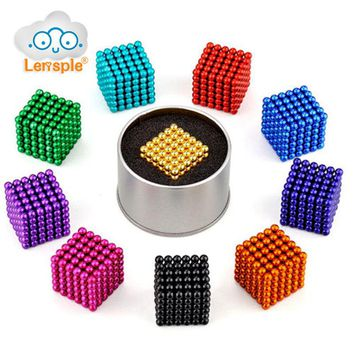 5mm 216pcs Magnetic Cube balls Magic Puzzle Toys Relieve Anxiety Autism ADHD for Child Magic Cube Fluorescent Educational Toys