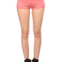 Coral Spandex Workout Shorts