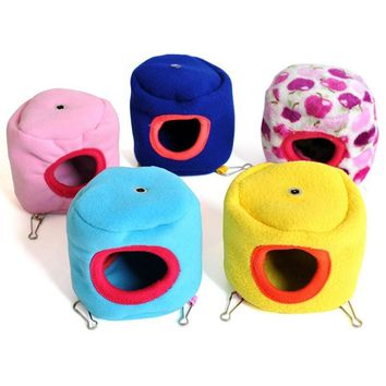 10cmX10cm Small Pet Cotton Warm Hammock Bed House Cage For Hamster Rat Pretty Gifts