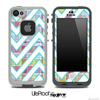 Large Chevron and Color Plaid Skin for the iPhone 5 or 4/4s LifeProof Case