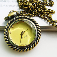 Necklace Watch Glass Pendant (PWAT0106)
