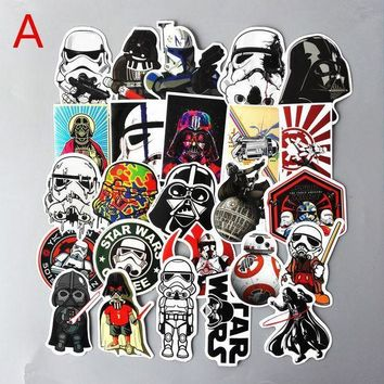 ICIKU7Q 25Pcs/Set Star wars Waterproof Funny Stickers For Luggage Laptop Phone Case Decal Sticker