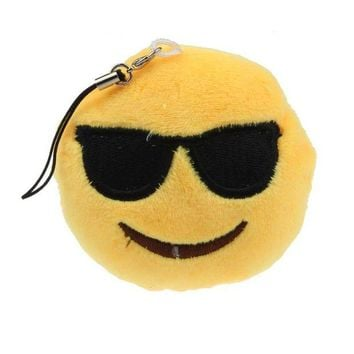 DCCKU7Q 2016 New  Emoji Smiley Emoticon Sunglass Toy Gift Pendant Bag Accessory Plush Toy