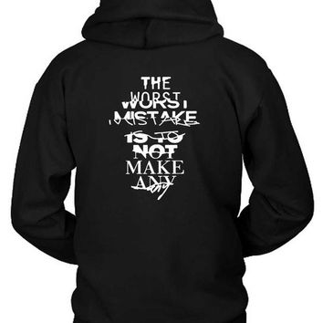 DCCKL83 Zayn Quote The Worst Mistake Hoodie Two Sided