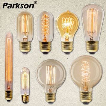 Vintage Retro Edison Bulb E27 40W 220V Ampoule Vintage Bulb Edison Lamp Incandescent Filament Light Bulb LED Retro Lamp Decor