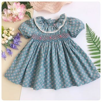 Adorable Classic Baby Girls Smocked Dress