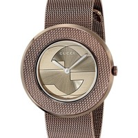 Gucci Women's YA129445 Gucci U - Play Collection Analog Display Swiss Quartz Brown Watch