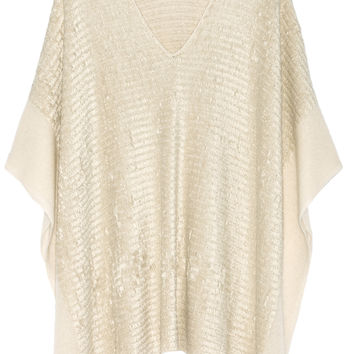 Donna Karan New York - Silk and cashmere-blend chenille poncho