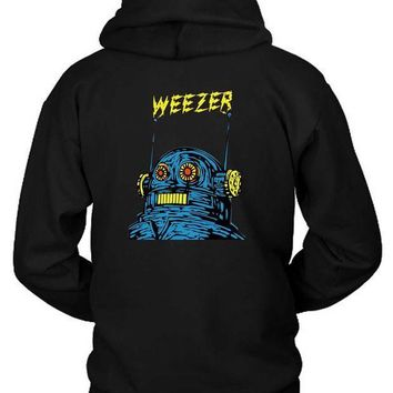 Weezer Cover Monster Art Hoodie Two Sided