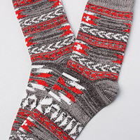 The Southwestern Boot Sock in Charcoal Combo