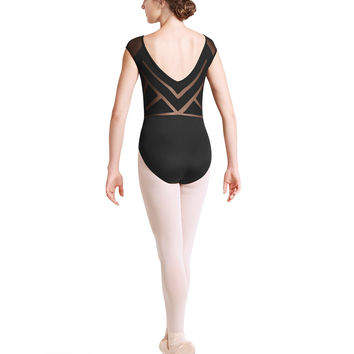 Sunray Back Cap Sleeve Leotard L8722