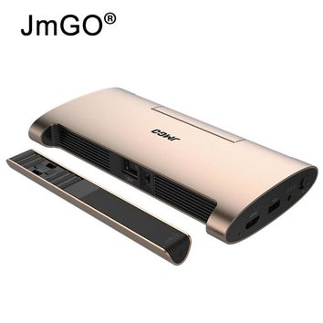 JMGO Portable Projector M6 200 ANSI Built-in Battery WIFI Bluetooth HDMI USB Android 7.0 4k Full HD