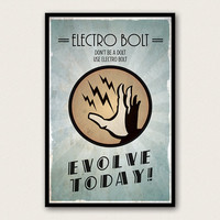 Bioshock Inspired Plasmid Poster - Electro Bolt