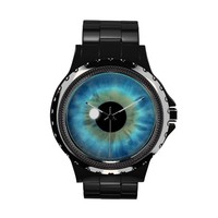 Cool Blue Eye Iris Eyeball Custom Wrist Watch from Zazzle.com
