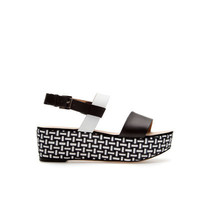 BRAIDED PLATFORM SANDALS - Shoes - Woman - ZARA United States