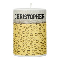 Beer Glass Personalize Pillar Candle
