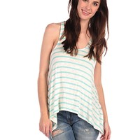 Vintage Havana Color Block Stripe Knit Tank