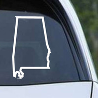 Alabama State Outline AL Yellowhammer Die Cut Vinyl Decal Sticker