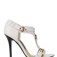 Tom Ford Womens White Leather T Bar Sandals Pumps