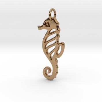 Seahorse pendant by emerald_of_oz on Shapeways