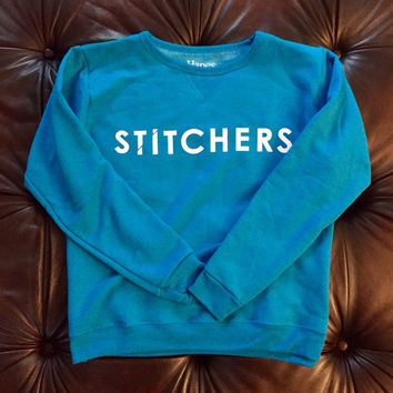 Small Stitchers Inspired Sweatshirt: Bright Blue