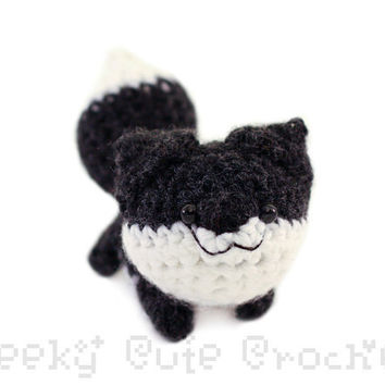 Black Fox Amigurumi - MADE  TO ORDER