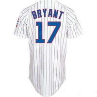 Baseball Jerseys Chicago Cubs #17 Kris Bryant White Home Team Jersey Shirts Baseball Cool base Jerseys