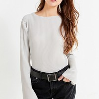 UO Hyer Plisse Tunic Top   Urban Outfitters