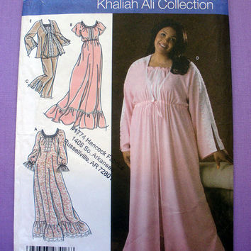 Nightgown, Pajamas and Robe Women's / Women's Petite Size FF 18w, 20w, 22w, 24w Simplicity 4891 Plus Size Sewing Pattern Uncut