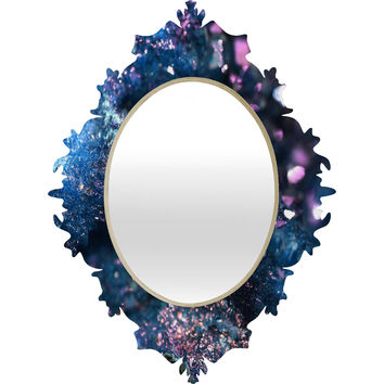 Lisa Argyropoulos Geode Abstract Teal Baroque Mirror