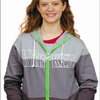 Wicked the Broadway Musical - Logo Color Block Zippered Hoodie