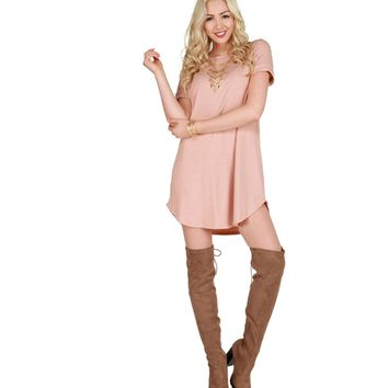 Pink Laid  Back Tunic