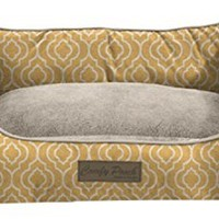 """Home Dynamix 1-CPPT-250 Comfy Pooch Printed Bed, 17"""" x 22"""", Sunshine Yellow"""