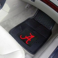 Fanmats Alabama Crimson Tide Heavy Duty Vinyl Car Mats