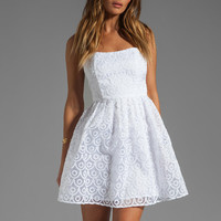 Jack by BB Dakota Wesley Embroidered Organza Dress in White from REVOLVEclothing.com