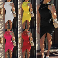 Sexy Women's Summer Bandage Bodycon Lace Evening Party Short Mini Dress