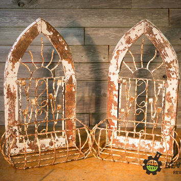 Pair of Cottage Chic Victorian Wall Planers