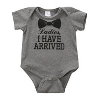 0-12Months Newborn Baby Kids Boys Girls Cotton Clothes Letter Print Romper Bodysuit Jumpsuit Outfit Sets Clothing