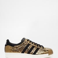 adidas Originals Superstar Gold 80's Metal Toe Trainers at asos.com