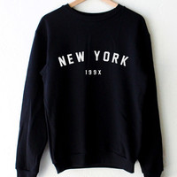 New York 199x Oversized Sweater - Black