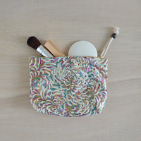 Christa makeup bag - flower pattern cosmetic bag