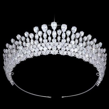 Tiara Crown Water Droplets Design Elegant