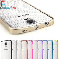 Samsung Galaxy S5 i9600 Ultrathin Aviation No Screws Frame S5 Phone Cover Ultra Thin Metal Luxury Aluminum Bumper Case