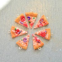 Polymer Clay Realistic Pizza Necklace
