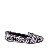 New Look Memphis Black Printed Slip On Plimsolls at asos.com