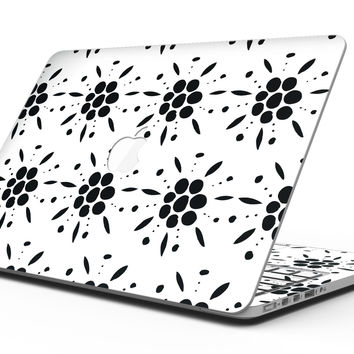 Black Floral Pedals with Clear Cacking - MacBook Pro with Retina Display Full-Coverage Skin Kit