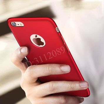 Fashion Hard Matte Case For iPhone 360 Full Cover Plastic Phone Cover P35