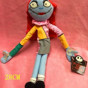 one Piece 28cm The Nightmare before christmas Plush Jack sally Action Figure doll lovely figure style adult funny toy