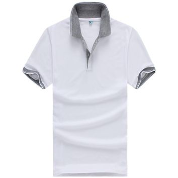 Men's Grey Collar Polo Shirt